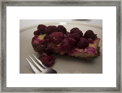 Framed Print featuring the photograph Homemade Cheesecake by Miguel Winterpacht