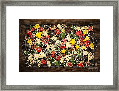 Homemade Christmas Cookies Framed Print by Elena Elisseeva