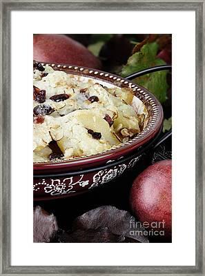 Homemade Pear Crisp Framed Print