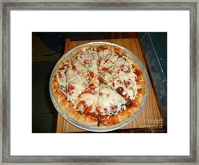 Homemade Pizza  Framed Print