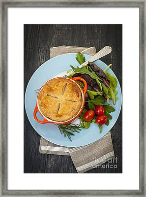 Homemade Potpie Framed Print by Elena Elisseeva
