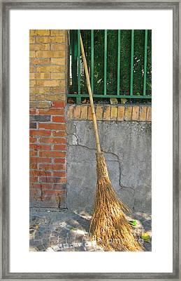 Homemade Straw Broom Framed Print