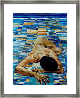 Homenaje A Paul Klee Framed Print by Nancy Almazan