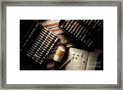 Homeopathy Kits Framed Print by Brooks / Brown