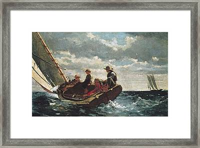 Homer, Winslow 1830-1910. Breezing Up A Framed Print by Everett