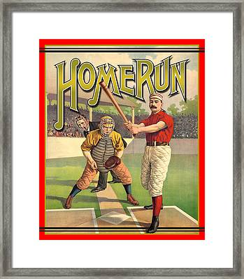 Homerun Framed Print by Gary Grayson