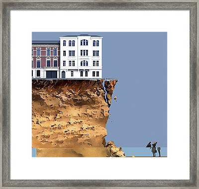 Homes At Risk, Conceptual Artwork Framed Print by Science Photo Library