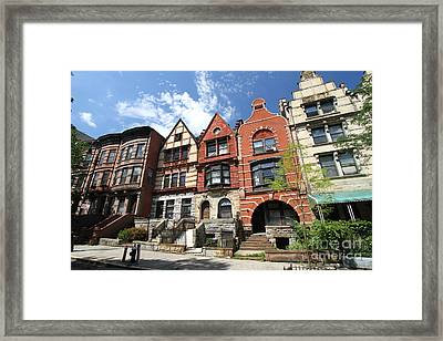 Homes In Hamilton Heights Framed Print