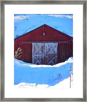 Homestead Barn Framed Print