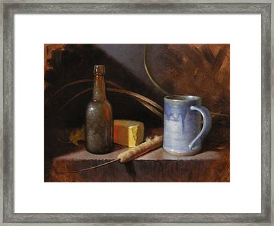 Homestead Beer And Cheese Framed Print by Timothy Jones