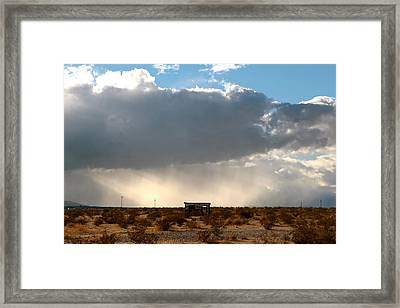 Homestead Cabin 1 Framed Print by Diana Shay Diehl