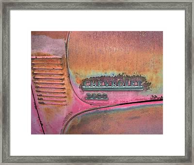 Homestead Chev Framed Print by Jerry McElroy