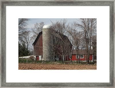 Homestead Farm Framed Print by Nancy TeWinkel Lauren