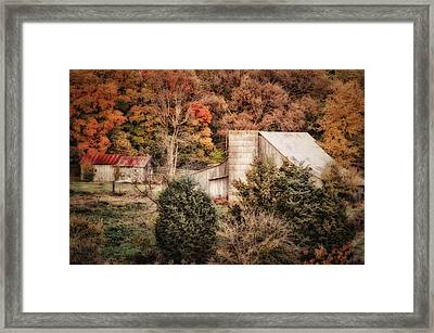 Homestead In The Hills Framed Print by Mary Timman