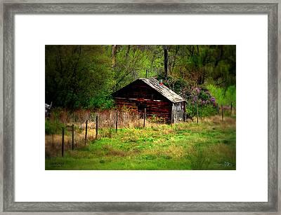Homestead - Vaseux Lake Framed Print by Guy Hoffman