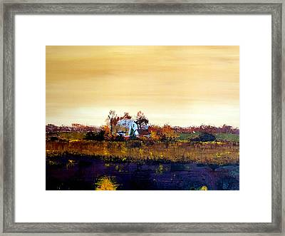 Framed Print featuring the painting Homestead by William Renzulli