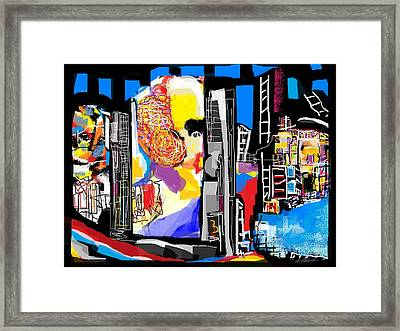 Hometown Abstract Framed Print
