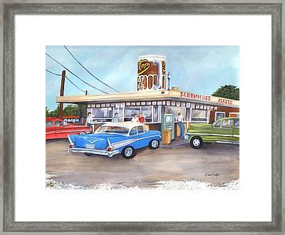 Hometown Memories Framed Print by Elaine Hodges