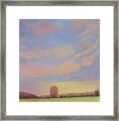 Homeward, 2004 Oil On Canvas Framed Print