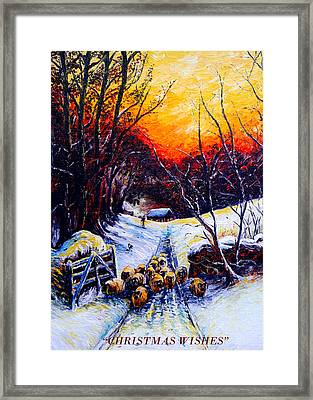 Homeward Bound Christmas Card Framed Print by Andrew Read