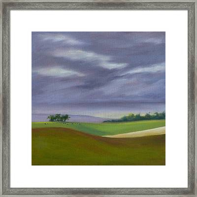 Framed Print featuring the painting Homeward Bound Left by Jo Appleby