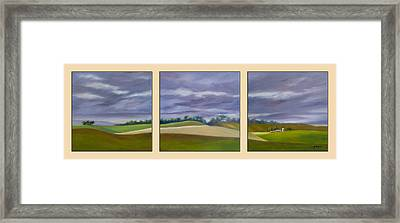 Framed Print featuring the painting Homeward Bound - Triptych by Jo Appleby