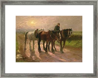 Homeward Framed Print by Harry Fidler