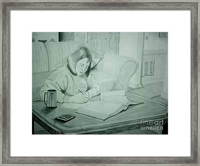 Homework Framed Print by Stacy C Bottoms