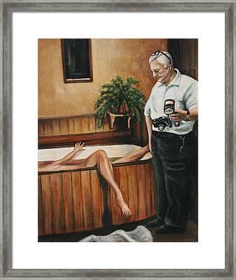 Homicide Photographer  Framed Print by Melinda Saminski