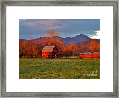 Hominy Valley Mornin' Framed Print
