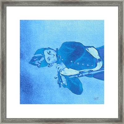 Hommage To Manet - The Wrongheaded Fifer By Briex Framed Print by Nop Briex