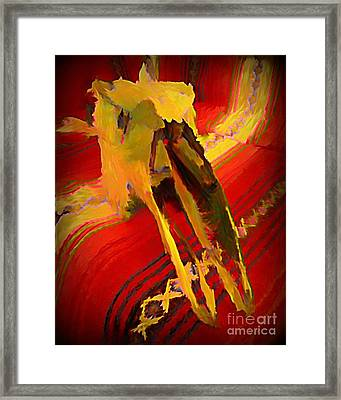 Hommage To South Western Americana Framed Print