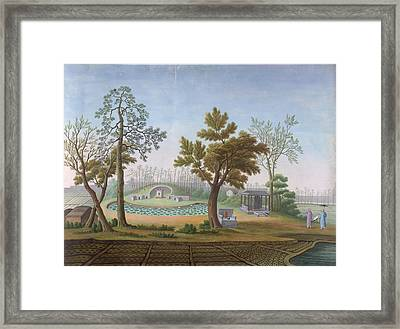 Honam Temple- Garden And Fields Framed Print by British Library