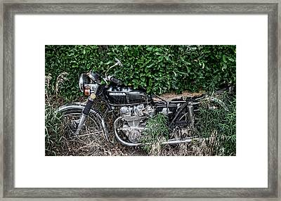 Honda 450 Motorcycle Framed Print