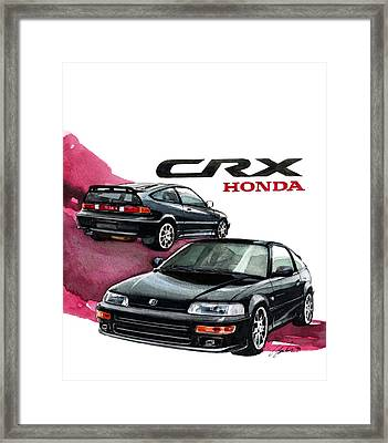 Honda Crx Framed Print by Yoshiharu Miyakawa