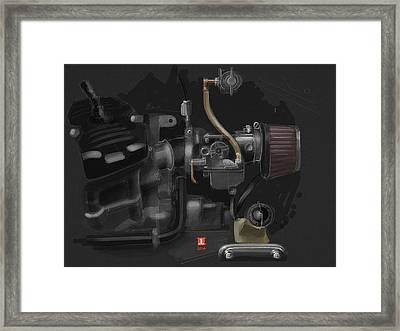 Honda Cx500 Carb Framed Print