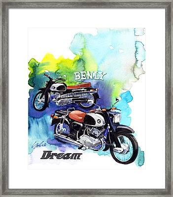 Honda Dream And Beniy Framed Print by Yoshiharu Miyakawa