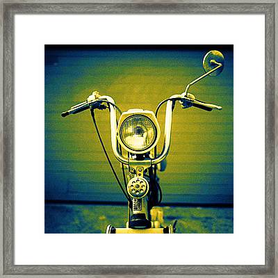 Scooter Framed Print by Yo Pedro