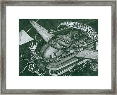Honda Fit Framed Print by Richie Montgomery