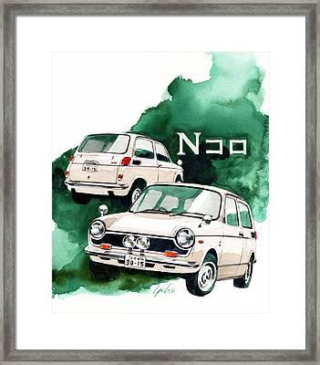 Honda N360 Framed Print by Yoshiharu Miyakawa