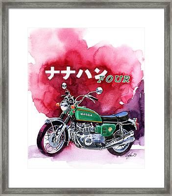 Honda Cb750 Four Framed Print by Yoshiharu Miyakawa