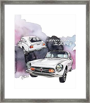 Honda S800 Framed Print by Yoshiharu Miyakawa