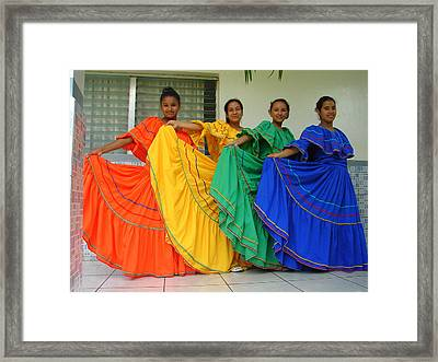 Honduran Dancers Framed Print