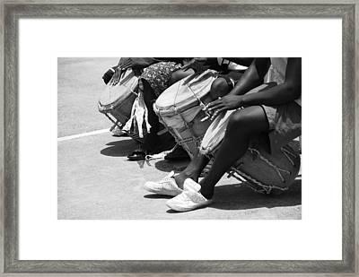 Honduran Drummers Framed Print by David Coleman