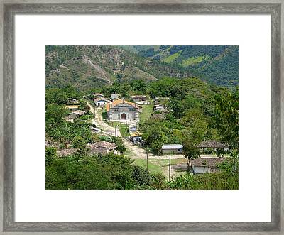 Honduras Mountain Village Framed Print by Lew Davis
