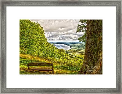 Honeoye Lake Overlook Framed Print