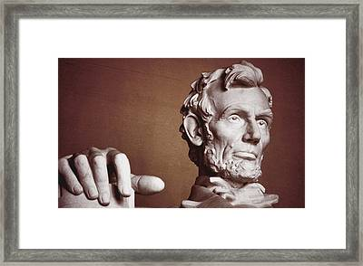 Honest Abe Framed Print