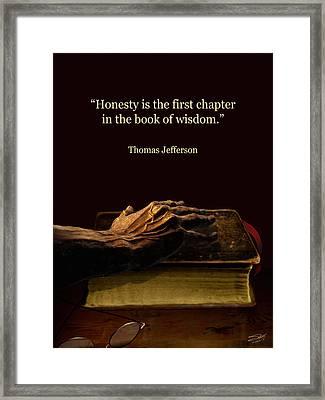 Honesty Framed Print by Schwartz