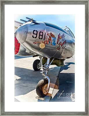 Honey Bunny - P-38 Airplane Framed Print by Gregory Dyer