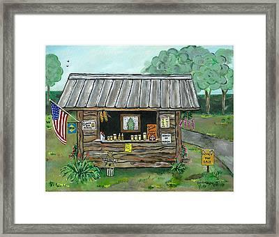 Honey For Sale Framed Print by Sandie Keyser